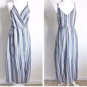 Blue and white stripped Anthropologie dress